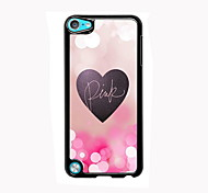 Pink and Heart Design Aluminum High Quality Case for iPod Touch 5