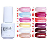 lentejuelas de color ultravioleta del clavo gel no.109-120 polaco (5 ml, colores surtidos)