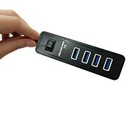 High Speed 3.0 USB 4-Port External HUB Splitter Cable Adapter Box For Laptop PC