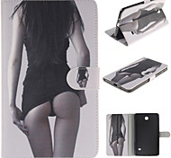 Sexy Girl Design PU Leather with Stand Case forSamsung Galaxy Tab 3 Lite T110 T114/Tab 4 7.0 T230/Tab 3 8.0 T310 T311