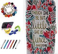 pu couro desenho colorido ou pacote coldre padrão inclui suporte anti-poeira plugue stylus para iphone 6 mais