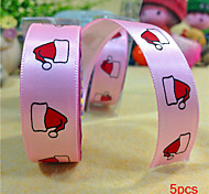 5pcs Silk Tape Christmas Hat on Christmas Diy Tape Birthday Dots Christmas Cartoon