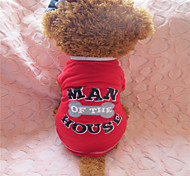 Holdhoney Red And The Dog A Bone Cotton T-Shirt For Pets Dogs (Assorted Sizes) #LT15050256