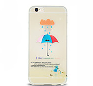 Umbrella Pattern TPU Soft Case for iPhone 6 Plus