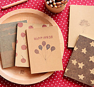 Dreaming Time Kraft Paper Cover Diary Creative Notebook(Random Color)