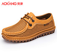 Aokang Men's Shoes Outdoor/Athletic/Casual Tulle Fashion Sneakers Yellow