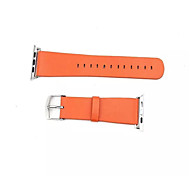 Classic Buckle Leather Wearables Straps 42mm Watch Band and Silver Metal Adapters for Apple Watch (Assorted Colors)