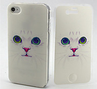 Cat Pattern TPU Soft Full Body Cover Case for iPhone 4/4S