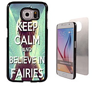 Keep Calm and Believe In Fairies Design Aluminum High Quality Case for Samsung Galaxy S6 SM-G920F