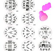 Gioielli per unghie - Astratto - per Dito - di Metallo - 11 - 7*7*2.5CM