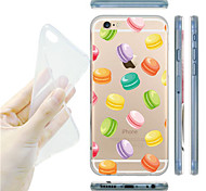 MAYCARI® The World of Macarons Transparent Soft TPU Back Case for iPhone 6/6S