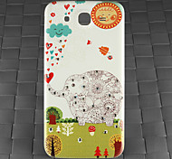 taladro y elefante del bosque pattern pc caso de la contraportada de la galaxia de Samsung i9152 de mega