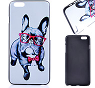 Glasses Dog Pattern PC Material Phone Case for iPhone 6