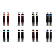 Set of 2 Fountain Pen Ink Cartridges Refills for Cute Two Student Fountain Pen (8 Color Option)