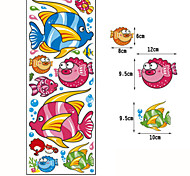 Multifunction DIY PVC Tropical Fish Decorative Stickers