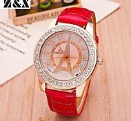 relógio de forma simplicidade de quartzo cristal de rocha torre de pulso analógico das mulheres (cores sortidas)