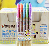 6 Color 5 PCS/Set Fluorescent Pens