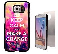 Keep Calm and Make A Change Design Aluminum High Quality Case for Samsung Galaxy S6 Edge G925F