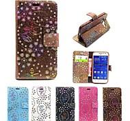 павлин шаблон PU кожаный телефон оболочки случаи полное тело с подставкой для Samsung Galaxy основной премьер g360