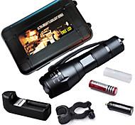 Lanternas LED / Luzes de Bicicleta / Lanternas de Mão (Foco Ajustável / Prova-de-Água / Recarregável / Bisel de Golpe / Emergência /