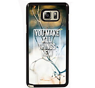 You Make All Things New Design Slim Metal Back Case for Samsung Galaxy Note 3/Note 4/Note 5/Note 5 edge