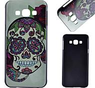 cor padrão crânio material de pc caso de telefone celular para Samsung Galaxy a8