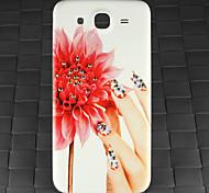 perforar y se levantó pc caso de la contraportada patrón dedo para Samsung Galaxy i9152 de mega