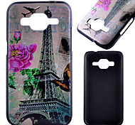 Transmission Tower Pattern Black PC Material Phone Case for Samsung Galaxy G360/J1 /G388F/G850G/G357