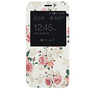 Peony Pattern PU Material Full Package Phone Case for Samsung Galaxy A8