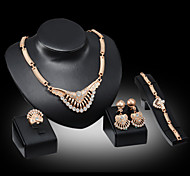Fashion Accessories Four Sets Of Diamond Jewelry Set