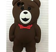 neue Stereo-Teddybär Silikonhülle für iPhone 5/5 s (verschiedene Farben)