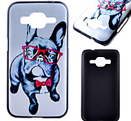 Glasses Dog Pattern Black PC Material Phone Case for Samsung Galaxy G360/J1 /G388F/G850G/G357