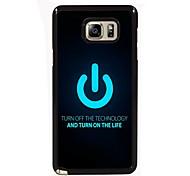 Zet de Life ontwerp slanke metalen achterkant van de behuizing voor Samsung Galaxy Note 3 / noot 4 / note 5 / note 5 rand