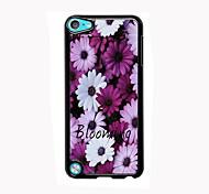 floraison design en aluminium de fleurs cas de haute qualité pour iPod touch 5