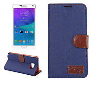 Luxury Denim U Leather Card Holder Wallet Flip Phone Holster For Galaxy Note 5/Note 4/Note 3(Assorted Color)