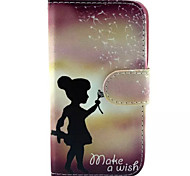Girl Pattern PU Leather Phone Case for Samsung Galaxy J1