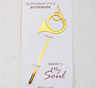18 K Gold Plated Horn Shaped Metal Bookmark