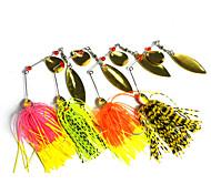 """4pcs pcs Cebos de pesca spinning / Cebos Cebos de Giro y Zumbido Others 14.8g g/1/2 Onza mm/2-3/4"""" pulgada,Metal / Plástico duro /"""