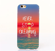 Ocean Sunrise Pattern TPU And  IMD Phone Case For iPhone 6
