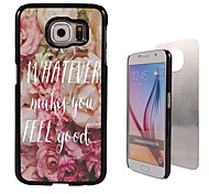 Do Whatever Makes You Feel Good Design Aluminum High Quality Case for Samsung Galaxy S6 Edge G925F