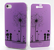 Love Dandelion Pattern TPU Soft Full Body Cover Case for iPhone 4/4S