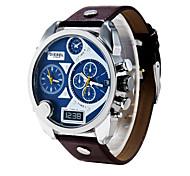 Männer Diesel-Uhr-Quarz wasserdichten Sportuhr Kalender echtem Leder Armbanduhr montre reloj relogio masculino