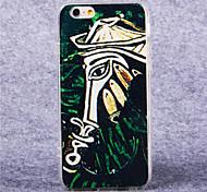 patrón de caballo ilustración en color acrílico TPU cubierta suave para el iphone 6 más