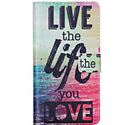 LOVE Pattern PU leather phone Case For Huawei P8 Lite