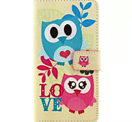 Birds  Pattern PU Leather Phone Case For Huawei P8