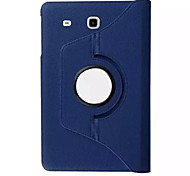 Solid Colors PU Leather 360 Degree Rotating Flip Full Body Case for Samsung Galaxy Tab E 9.6 (Assorted Colors)
