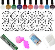 DIY Nail Art Stamping Kit (24Pcs/Set)