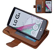 LG G4 PU Leather Full Body Cases / Cases with Stand Solid Color / Special Design case cover