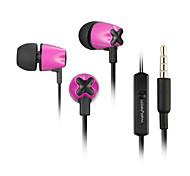 w803 con anulación de ruido de 3,5 mm de alta calidad micrófono en el auricular del oído para el iphone y otros teléfonos (colores