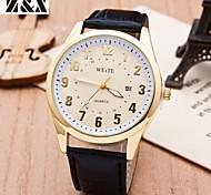 la montre à quartz de mode britpop analogique ceinture de poignet des hommes (couleurs assorties)